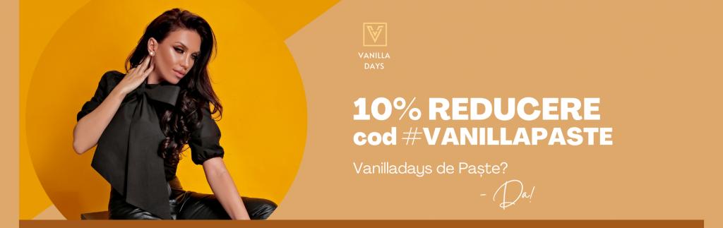 Cod Reducere VanillaDays.ro -10% la imbracaminte, incaltaminte si accesorii