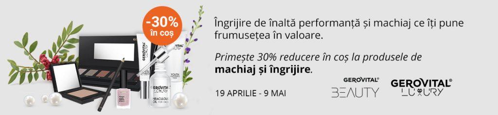 Reducere Farmec.ro -30% in cos la produsele din gama Gerovital Luxury si Gerovital Beauty