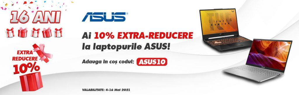 Cod Reducere evoMag -10% la Laptopuri Asus